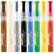 Montana Acrylic Paint Marker Fine 2mm 8 Colour Set