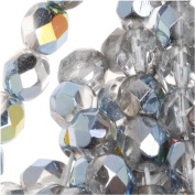 Czech Fire Polish Glass Beads 6mm Round Crystal Marea