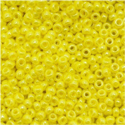 Toho Round Seed Beads 11/0 #128 'Opaque Lustered Dandelion' 8 Gramme Tube