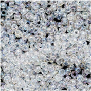 Toho Round Seed Beads 11/0 #161 'Transparent Rainbow Crystal' 8 Gramme Tube