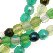 Czech Glass Druk Round 4mm Evergreen Colour Mix (100) DK4M03