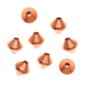Real Copper Small Bicone Beads 3 x 3.2mm