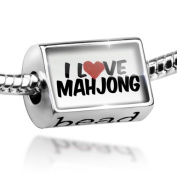 Bead I Love Mahjong - Charm Fit All European Bracelets , Neonblond