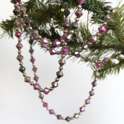 36 feet Fuchsia Ombre Beaded Garlands - Christmas Decorations