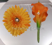 TCG Floral Orange Corsage Bracelet and Boutonniere Special Occasion Set