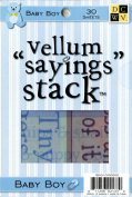 Die Cuts With A View Baby Boy Vellum Saying Stack