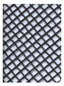 Amaco WireForm Metal Mesh black coated aluminium woven modeller's mesh - 8 mesh mini-pack [PACK OF 2 ]