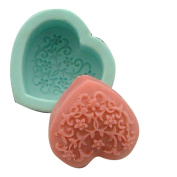 Decorative Pattern Decoration Heart 0226 Craft Art Silicone Soap mould Craft Moulds DIY