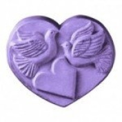 Heart With Doves Soap Mould