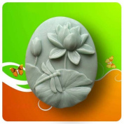 Lotus dragonfly 50074 Craft Art Silicone Soap mould Craft Moulds DIY Handmade soap moulds