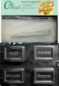 Inspirational Bars Soap Mould with Packaging Kit, 25 Cello Bags, 25 Silver Ties