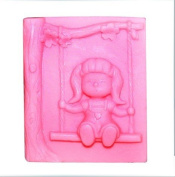 Swing Girl 1054 Craft Art Silicone Soap mould Craft Moulds DIY Handmade soap moulds