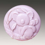 Cute Koala 50112 Craft Art Silicone Soap mould Craft Moulds DIY Handmade soap moulds