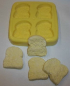 Mini Slices of Bread Soap & Candle Mould