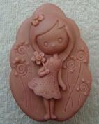 Creativemoldstore Lovely Girl Z236 Craft Art Silicone Soap Mould Craft Moulds DIY Handmade Soap Moulds
