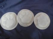 Dog Cat Paw Print Soap Mould Set of 3 4502