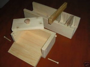 Wooden Soap Mould Colapsable 4-5 Lb with Cutter - Slicer