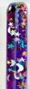 Purple Stars & Moon Glitter Wand for Kaleidoscopes or Party Favour 28cm