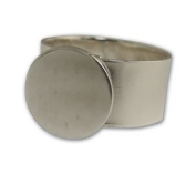 Sterling Silver Plated Round Disc Ring