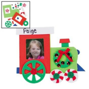 12 Christmas Train Photo Frame Magnet Craft Kits