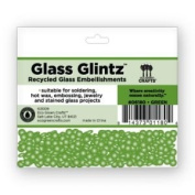 Eco Green Crafts 8Mm Recycled Glass Glintz, Green
