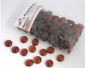 Medium Amber Transparent Pebbles - 96 Coe