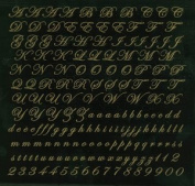 Glass Accents Script Alphabet Gold Decal