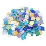 1.9cm Iridized Glass Tiles Value Mix - 1 Lb
