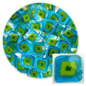 Turquoise Hip To Be Square Millefiori - 96 Coe