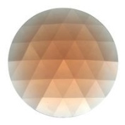 Stained Glass Jewels - 50mm Round Faceted - Peach