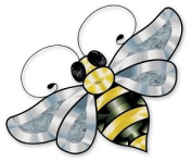 Coloured Bumble Bee Bevel Cluster