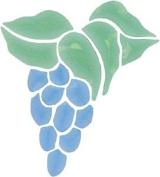 Blue & Green Grapes Bevel Cluster