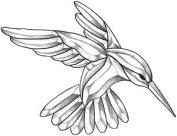Large Hummingbird Bevel Cluster