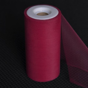 Premium Tulle on Spool (15cm Wide x 25 Yards Long) - Burgundy