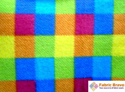 Square Spectrum Anti Pill Plaid Fleece Fabric, 150cm Wide and Sold By the Yard