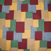 110cm Wide Harvest Stitch Cotton Fabric BY THE HALF YARD