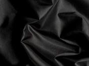 Black Silky Habutae Lining Fabric 150cm By the Yard