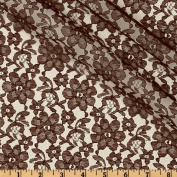 Floral Lace Brown Fabric