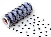 13cm - 1.9cm Polka Dot Flocked Tulle Roll or Spool Tutu Gift Bow Craft Wedding