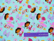 110cm Wide DORA Fly Away Butterflies Cotton Fabric BY THE HALF YARD