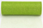 Kel-Toy Glitter Tulle Fabric, 15cm by 10-Yard, Apple Green