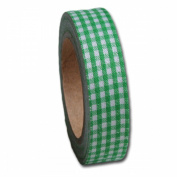 Gingham Fabric Tape .150cm Wide 5 Yards/Roll-Leaf Green