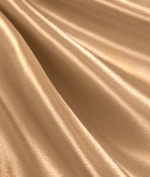 Champagne Satin Fabric - by the Yard
