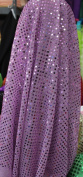 SMALL DOT CONFETTI SEQUIN FABRIC 110cm WIDE SOLD BY THE YARD LILAC