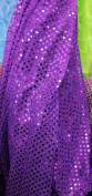 SMALL DOT CONFETTI SEQUIN FABRIC 110cm WIDE SOLD BY THE YARD PURPLE