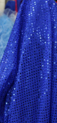 SMALL DOT CONFETTI SEQUIN FABRIC 110cm WIDE SOLD BY THE YARD ROYAL