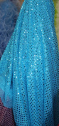 SMALL DOT CONFETTI SEQUIN FABRIC 110cm WIDE SOLD BY THE YARD TURQUOISE