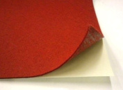23cm X 30cm Adhesive Backed Felt, Red, Pack of 5