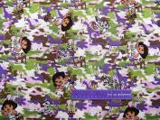 110cm Wide DORA Wild Camo Cotton Fabric BY THE HALF YARD
