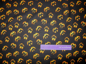 110cm Wide RJR Jack-O-Lantern Black Cotton Fabric BY THE HALF YARD